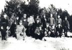 Zdjęcie zbiorowe krynickich myśliwych, początek lat 30 - tych.