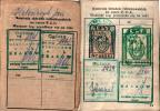 Strona legitymacji dokumentująca wpłatę składki PZŁ przez Kolegę Jana Kolańczyka w latach 1957 - 1962.