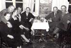 Zabawa karnawałowa w Cichym Kąciku, Jan Boligłowa pierwszy z prawej, rok 1957.