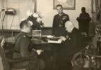 Major E.Quirini oraz kpt. S.Librewski u prezydenta RP Ignacego Mościckiego.