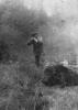 Kolega Józef Sroka strzela do odyńca, rok 1955.
